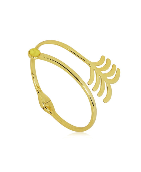 18k Bronze Palm Leaf Bracelet