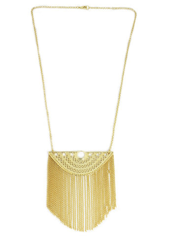 18k Bronze Tassel Necklace
