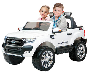 Ford Ranger F650 (White) ride on car, 4 Wheel drive and Rubber tyres