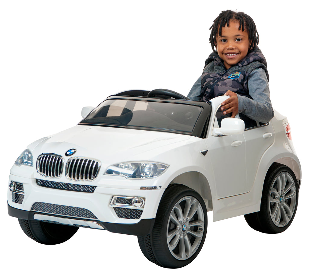 Demo 12V BMW X6 ride on kids electric car (White)