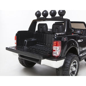 Demo 12V Ford Ranger 2 seater kids electric ride on car plastic wheels-black