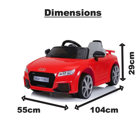 Image of Audi TT kids electric ride on car