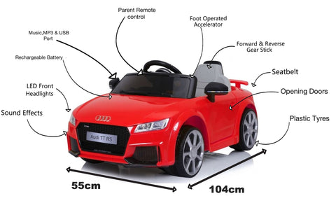 Image of Audi TT kids ride on car
