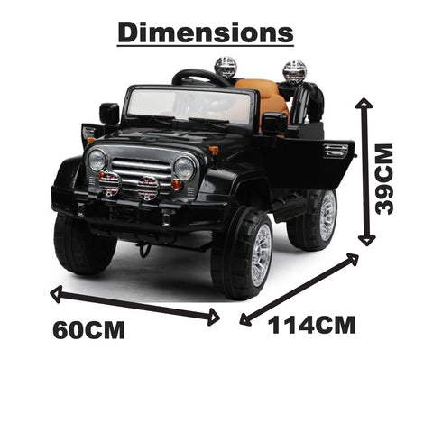 Image of 12V jeep ride on Car-Black
