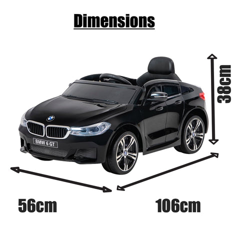 Image of 12V BMW GT Kids electric ride on car-BLK