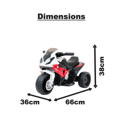 Image of BMW Mini Superbike RR1000 motorised kids ride on- red