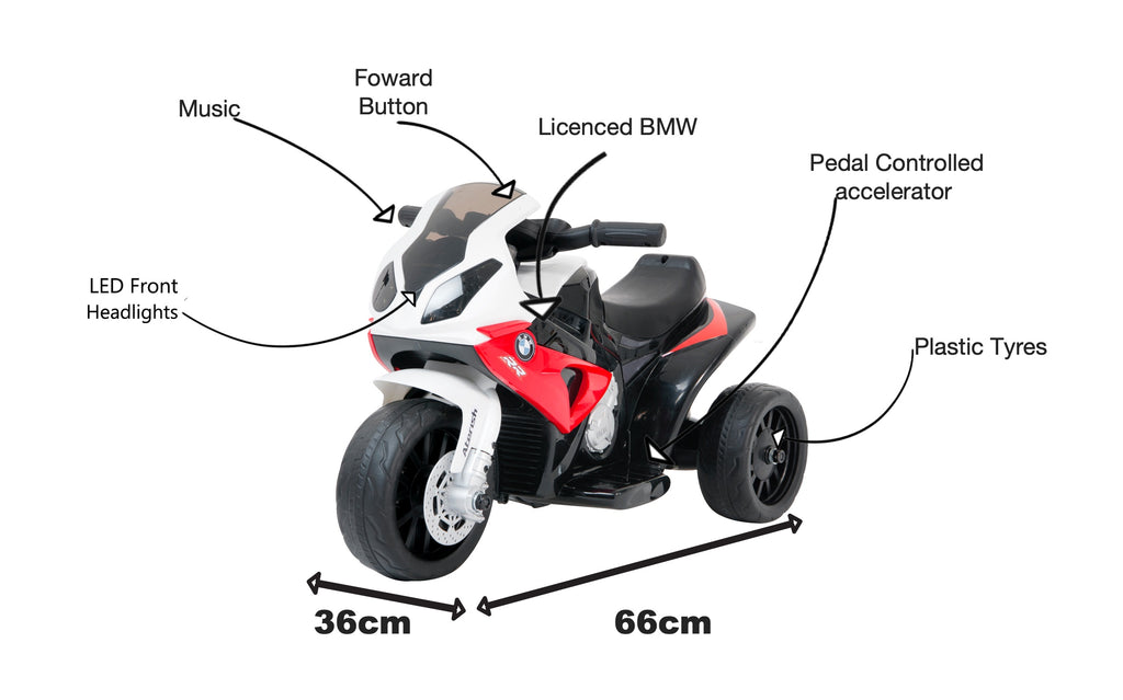 BMW Mini Superbike RR1000 motorised kids ride on- red