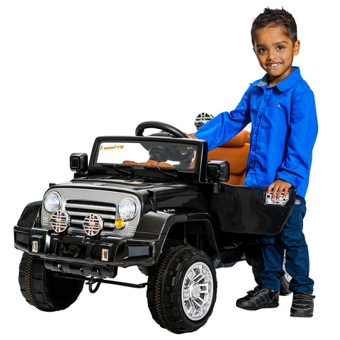 12V jeep ride on Car-Black KIDS RIDE ON ELECTRIC CARS- SA SCOOTER SHOP
