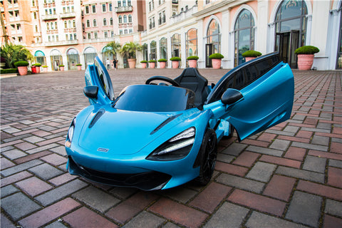 Demo Mclaren 720P Supercar kids electric ride on car - Belize blue