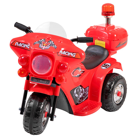 Image of Racing motorcycle battery kids ride on- red