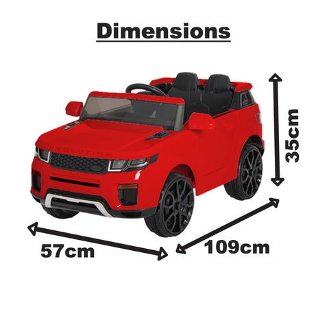 12V Evoque replica kids electric ride on car- Red
