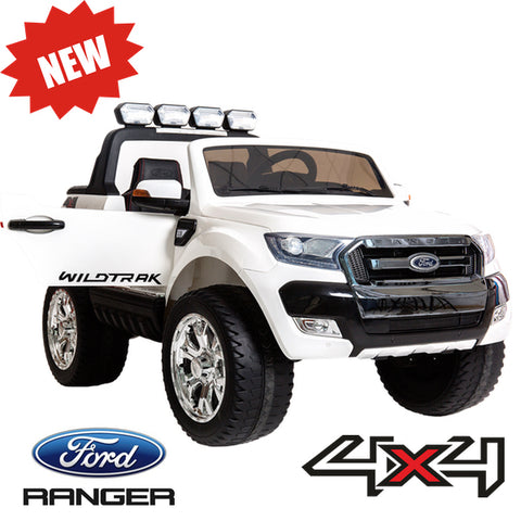 Image of Ford Ranger F650 (White) ride on car, 4 Wheel drive and Rubber tyres KIDS RIDE ON ELECTRIC CARS- SA SCOOTER SHOP