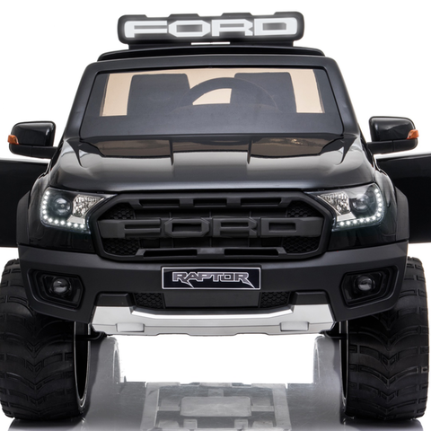 Image of *NEW*  Black Ford Raptor  - 2 seater kids electric ride on car rubber tyres