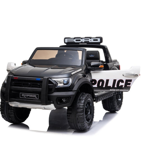 *NEW*  Police Ford Raptor  - 2 seater kids electric ride on car rubber tyres-black
