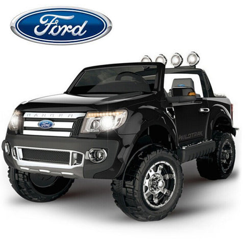 Image of 12V Ford Ranger 2 seater kids ride on car-black KIDS RIDE ON ELECTRIC CARS- SA SCOOTER SHOP