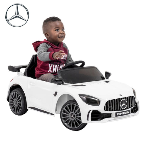 Image of MERCEDES GTR 12V WHITE KIDS RIDE ON CAR
