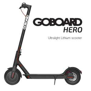 Goboard Hero - Ultralight Lithium scooter- BLK- 7.8AH Battery  25Km range