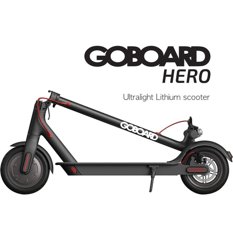 Image of Goboard Hero - Ultralight Lithium electric scooter- BLK- 7.8AH Battery  25Km range