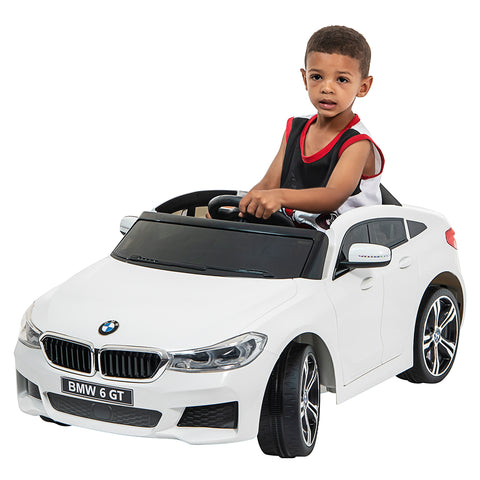 Image of 12V BMW GT Kids electric ride on car-WHT