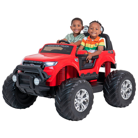 Ford Monster truck kids electric ride on car (Red) ride on car, 4 Wheel drive and Rubber tyres
