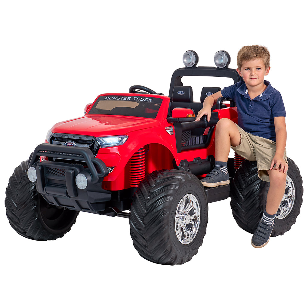 24V Ford Monster truck kids ride on car (Red) ride on car, 4 Wheel drive and Rubber tyres