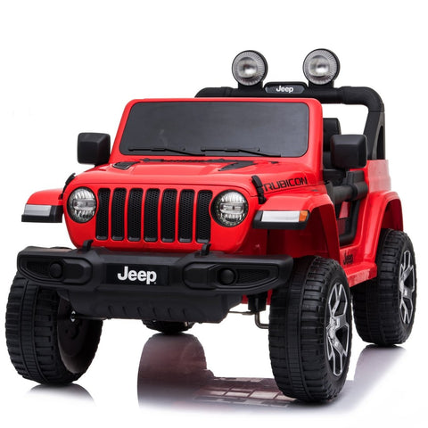 Image of *NEW* 12V Jeep Rubicon kids electric ride on car - red