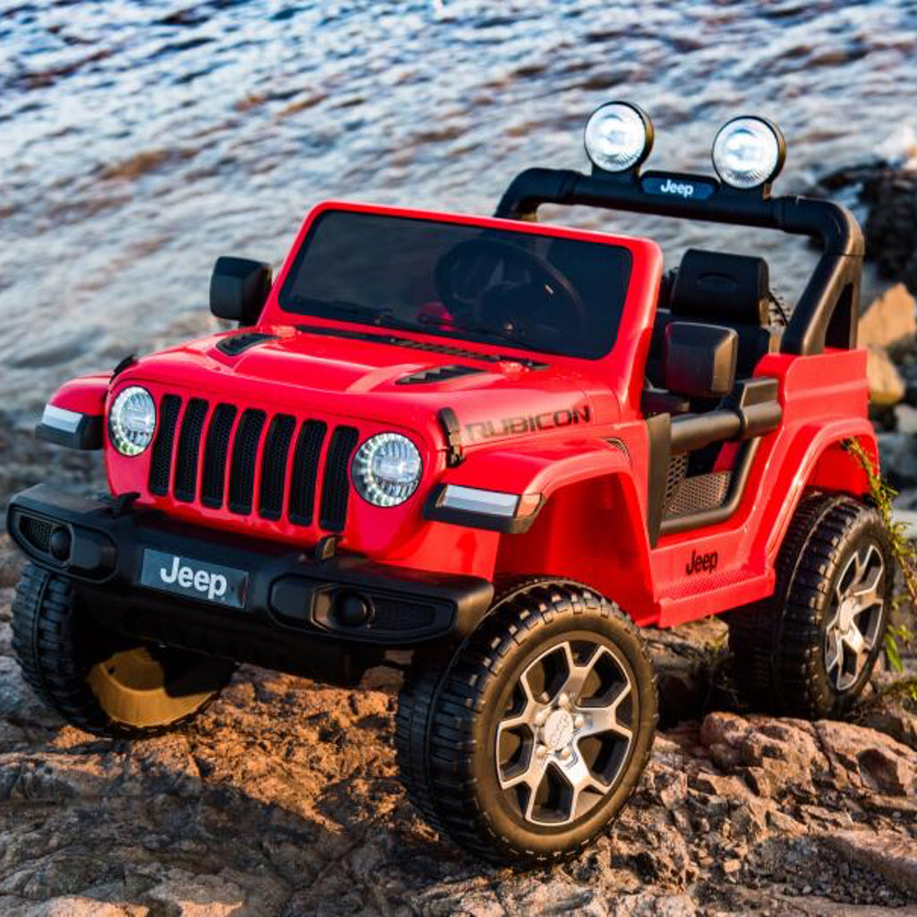 Demo *NEW* 12V Jeep Rubicon kids electric ride on car - red