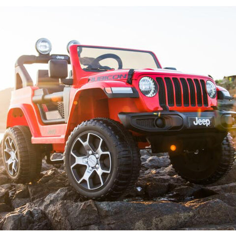 Image of Demo *NEW* 12V Jeep Rubicon kids electric ride on car - red