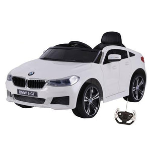 12V BMW GT Kids electric ride on car-WHT