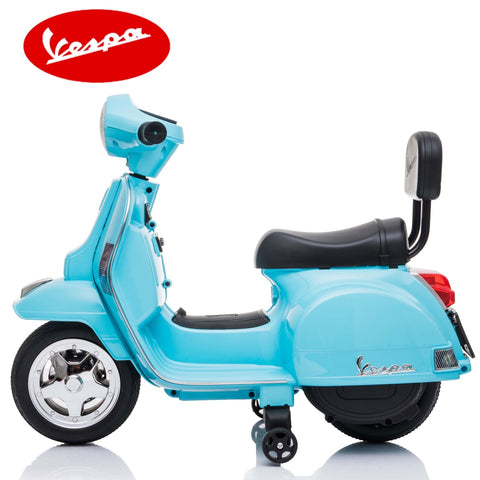 Image of Little Vespa PX150 kids ride on- blue