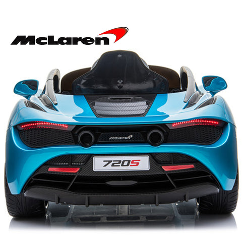 Image of **Limited QTY**  Mclaren 720P Supercar kids electric ride on car - Belize blue
