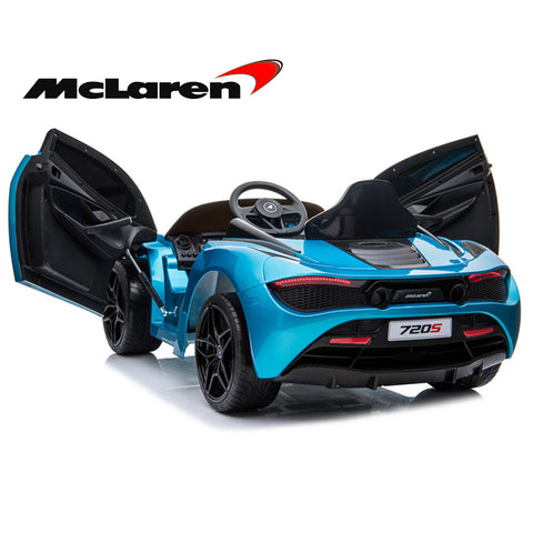 **Limited QTY**  Mclaren 720P Supercar kids electric ride on car - Belize blue