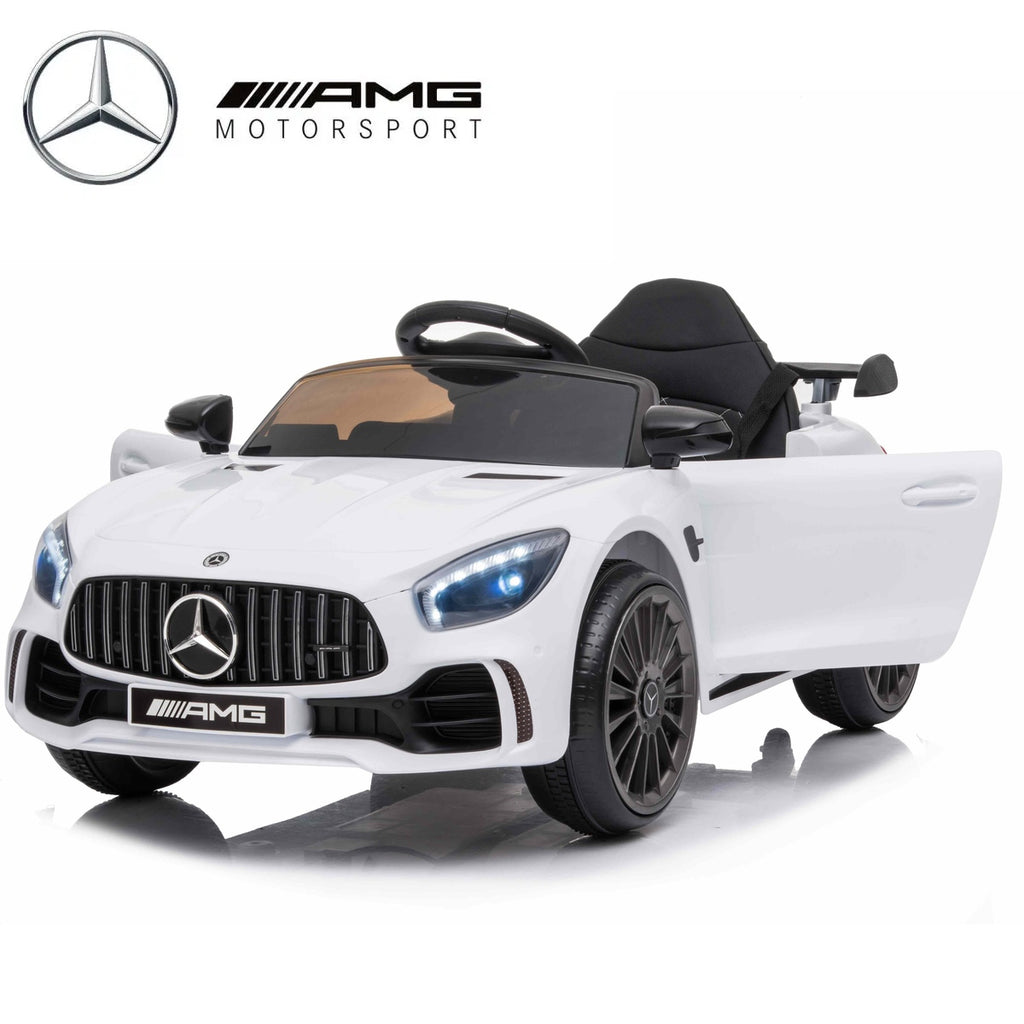 MERCEDES GTR 12V WHITE KIDS RIDE ON CAR