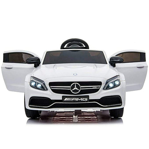 Image of 12V Mercedes C63 Coupe kids electric ride on car-white