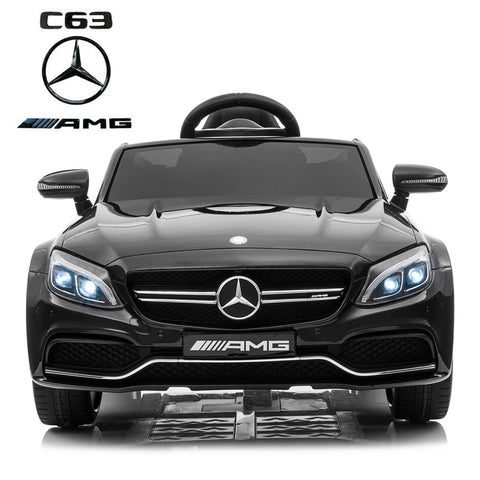 12V Mercedes C63 Coupe kids electric ride on car-black