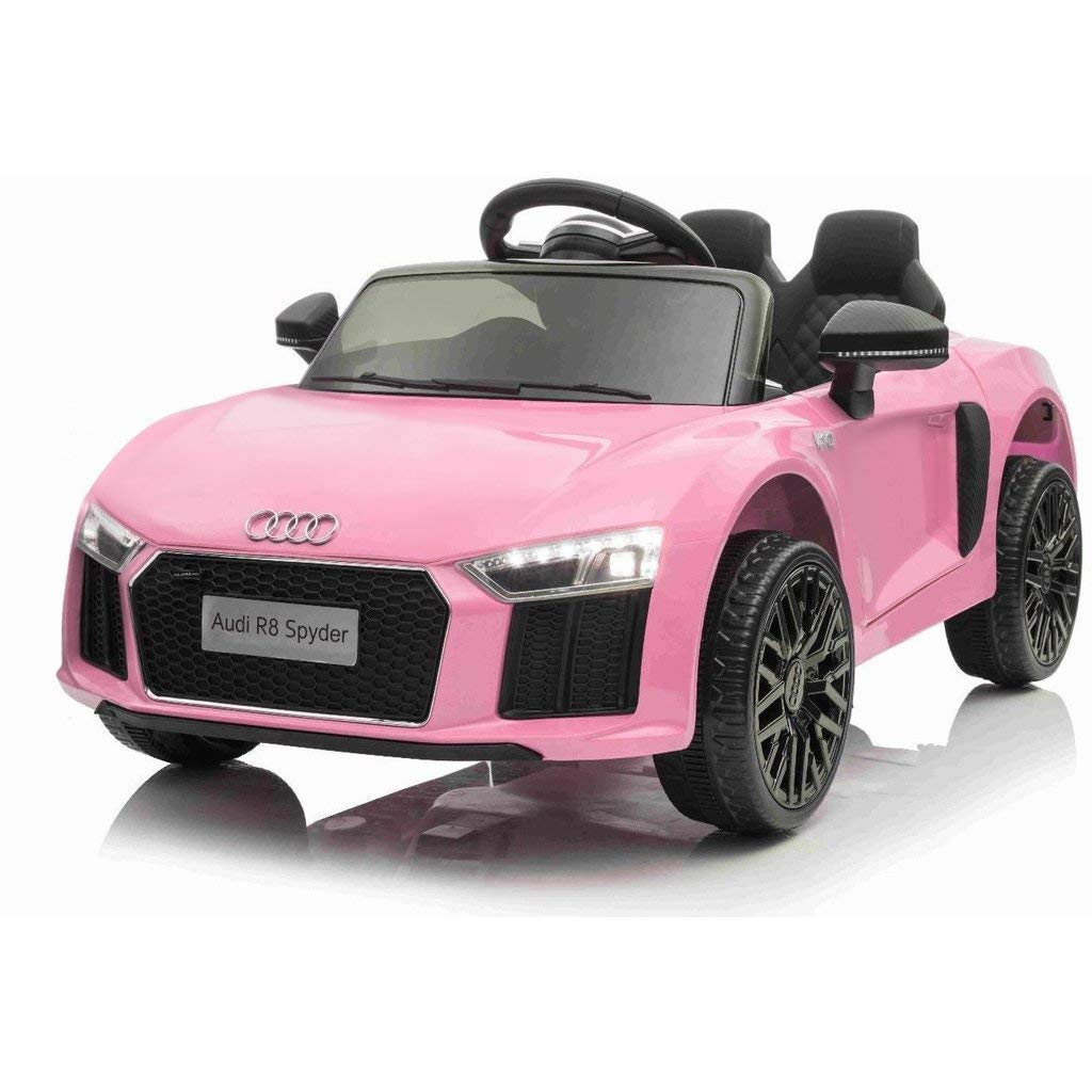 12V Audi R8 kids ride on car - pink