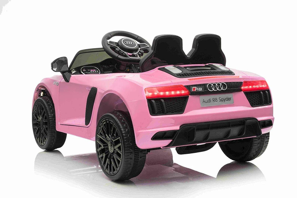 12V Audi R8 kids electric ride on car - pink