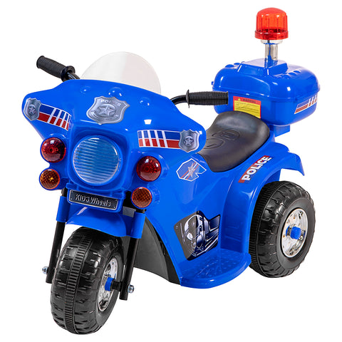 Police motorcycle battery kids ride on- blue