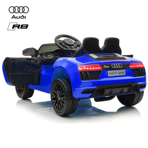 Demo 12V Audi R8 kids electric ride on car - blue