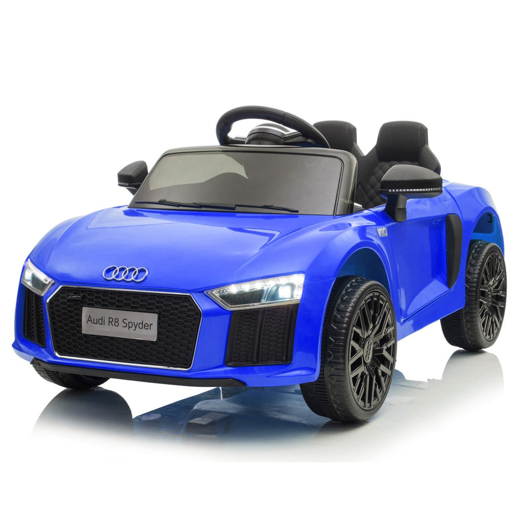 Demo 12V Audi R8 kids ride on car - blue