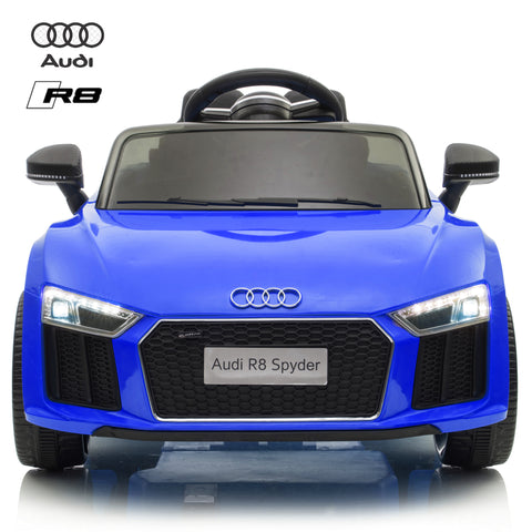 Image of Demo 12V Audi R8 kids ride on car - blue