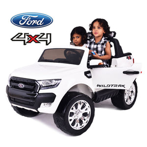 Demo 24V Ford Ranger F650 (White) ride on car, 4 Wheel drive and Rubber tyres - SA SCOOTER SHOP