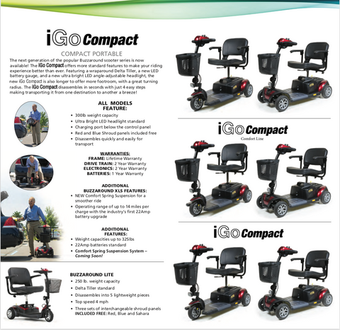 Image of IGO Mobility scooter catalogue - FREE