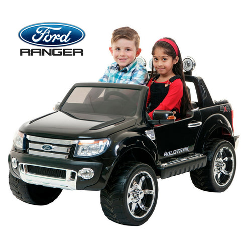 Image of Demo 12V Ford Ranger 2 seater kids ride on car-black KIDS RIDE ON ELECTRIC CARS- SA SCOOTER SHOP