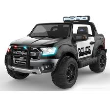 DEMO POLICE FORD RAPTOR -SEATER RUBBER TYRES BLACK