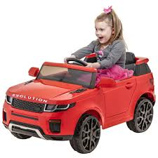 DEMO 12V RED EVOQUE RIDE ON CAR -LICENSED