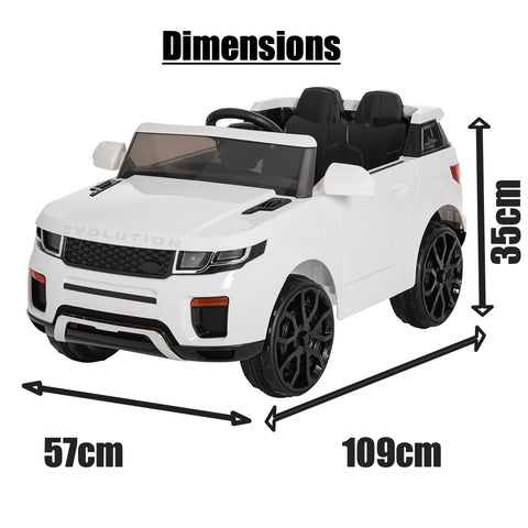 12V Evoque replica kids ride on car- Wht