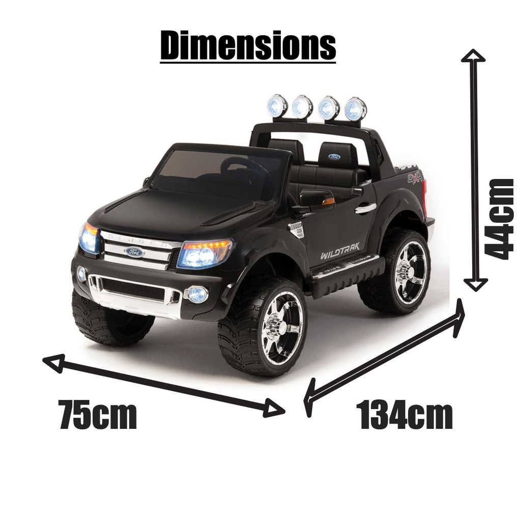 12V Ford Ranger 2 seater kids electric ride on car plastic wheels-black