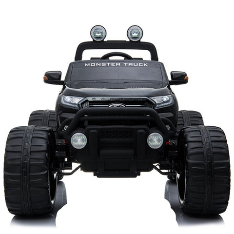 Image of Demo 24V Ford Monster truck kids ride on car (Black) ride on car, 4 Wheel drive and Rubber tyres