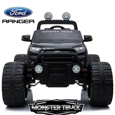 Image of 24V Ford Monster truck kids electric ride on car (Black) ride on car, 4 Wheel drive and Rubber tyres